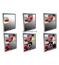 LED magic mirror with 6posters
