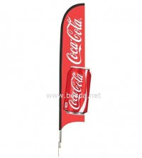 Besda 3D Customized Beach Flag, 3D custom feather flag