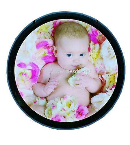 LED Acrylic crystal light box photo frame with round shape CD-5 2