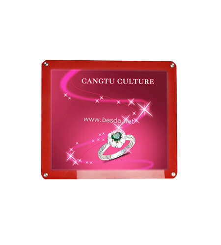 LED Acrylic Crystal light box customized size 30x30cm CD-10 1