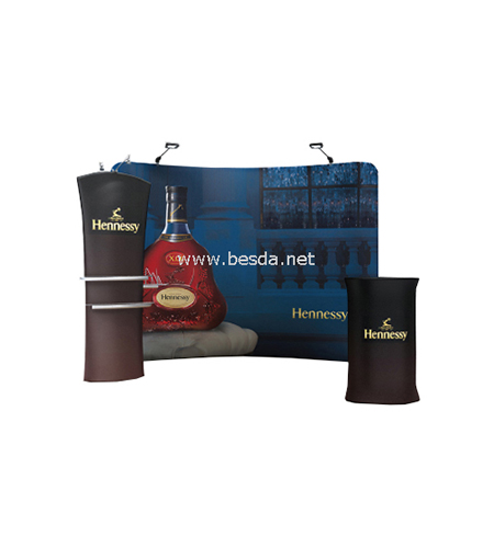 Besda Tension Fabric Display Arc Shape 4x3m Combination TDAS-43 2