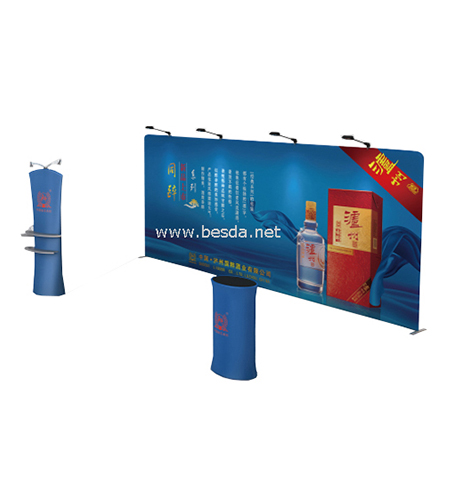 Tradeshow displays Tension Fabric Straight shape 7x3m TD1-4